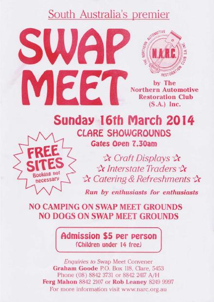 Clare Swap Meet SA 2014