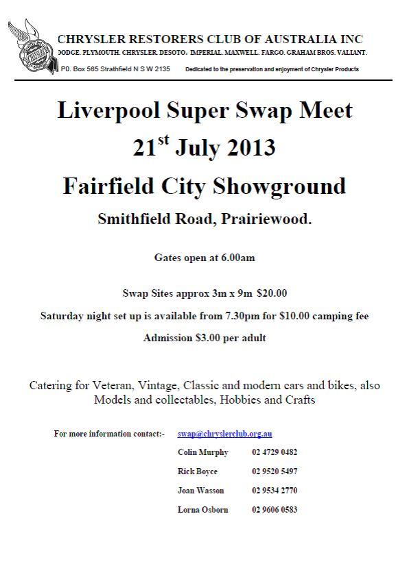 super sunday swap meet 2013 nfl