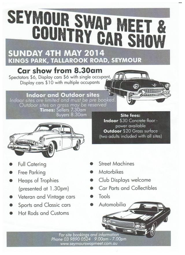 Seymour Swap Meet VIC May 2014