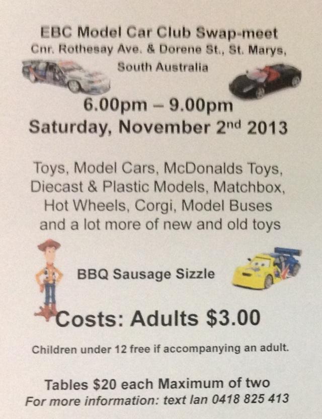 Model Car Swap Meet St Marys SA 2013