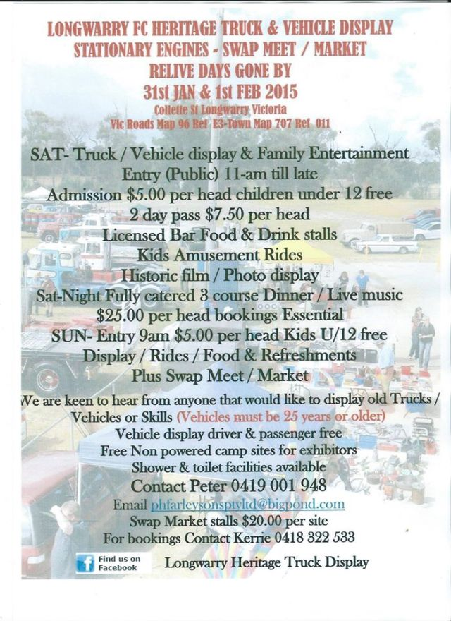 Longwarry Swap Meet VIC 2015